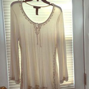 White beautifully done tunic